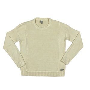 Bench. Womens Pullover Sweater Ivory Crew Neck